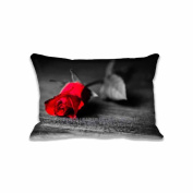 Red Rose Standard Size Pillow Case 41cm x 60cm Zippered Digital Print Adults Kids Cushion Covers