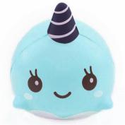 Fidget Toys, BESTTY Decompression Toys FiSaingace 9CM Soft Whale Cartoon Squishy Slow Rising Squeeze Toy Phone Straps Ballchains