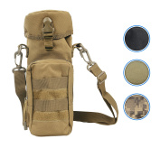 Rootless Tactical MOLLE Water Bottle Pouch : Backpack Accessory - H2O Holder Attachment for Outdoors