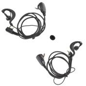 HYS 888S Ham Radio Earphone Headset PTT Mic Police Earpiece (2PCS) for UV-5R BF-888S KG-659 KG-669