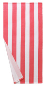 Microfiber Cabana Striped Beach Towel Pink and White (80cm x 150cm )—Soft, Quick Dry, Lightweight, Absorbent, and Plush by Exclusivo Mezcla