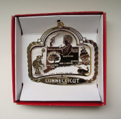 Connecticut Brass Ornament State Landmarks Souvenir