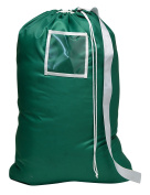 Carry Laundry Bag From Handy Laundry with Shoulder Strap, Large Size 60cm X 90cm , Commercial Grade 100% Nylon and Made in the USA - Designed for Heavy Duty Use - College Laundry Bag - Trips to Laundromat - Household Storage