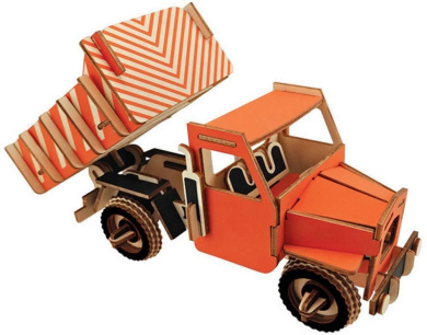 Dump Truck Stereo Model Puzzle Wooden Toy Stereo Model Puzzle