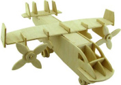 Transport Aircraft Stereo Model Puzzle Wooden Toy 3D Wooden Puzzle