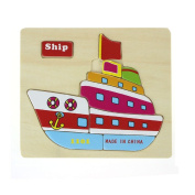TRENDINAO Kids Early Learning Toys Educational Puzzle Jigsaw Ship