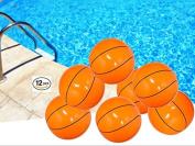 Playo Inflatable Basketballs - 41cm Beach Balls - 1 Dozen
