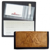 Minnesota Golden Gophers Leather/Nylon Embossed Chequebook Cover