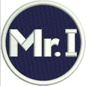 """TIGERS PATCH MIKE ILITCH """"MR. I"""" MEMORIAL PATCH ON-FIELD NAVY BLUE W/WHITE EMBROIDERY"""