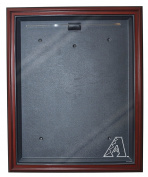 MLB Arizona Diamondbacks Cabinet Style Jersey Display, Mahogany