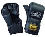 "TOP KING ""Grappling Gloves ""COMBAT"" - TKGGC-222 - BLACK"