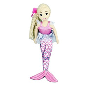 """Cotton Candy Mermaid Doll Ruby Soft Plush Toy Doll Mythical Creatures 17""""/45cm Pink"""