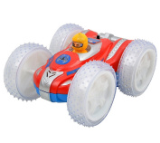 BYP Cool Electric Stunt Car Double-sided Power Wheels Race Car Toy Vehicles Spins Rolling Car with Music & Lights