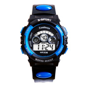 Sports Digital Wrist Watch Waterproof Outdoors Electronic Stopwatch for Boys Girls Children Adult