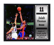 Encore Select 522-35 NBA Detroit Pistons Isiah Thomas Stat Plaque with Photo, 30cm by 38cm