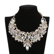 HairPhocas Womens Colourful Rhinestone Crystal Queen Costume Jewellery Bib Statement Choker Necklace