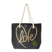 NCAA Baylor Bears Women's Rope Tote, Black, Gold, 50cm x 36cm 15cm