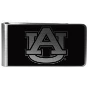 NCAA Auburn Tigers Black & Steel Money Clip
