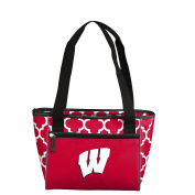 NCAA Wisconsin Badgers 16 Cooler Can Tote, Red, One Size