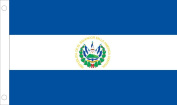 Allied Flag Outdoor Nylon El Salvador Country Flag with Seal, 0.9m by 1.5m