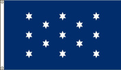 America's Flag Company 0.9m by 1.5m Nylon Washington's Commander In Chief Historical Flag with Canvas Header and Grommets