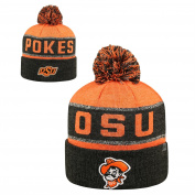 Oklahoma State Cowboys Top of the World Below Zero Cuffed Pom Knit Hat - Orange/Heather Black