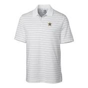 NCAA Vanderbilt Commodores Men's Franklin Stripe Polo Shirt, White, Large