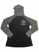 Anaheim Ducks SAAG WOMEN Two-Tone Grey Full Zip Up Hooded Jacket