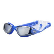 Waterproof Anti-shatter UV Protection Swim Goggles, Pawaca Swimming Goggles with Ear Plugs