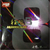 DHS HURRICANE 8 Tournament Ping Pong Paddle, Table Tennis Rubber