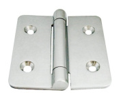 hinge, stainless steel a4 aisi316, 75mm, 70mm