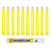 Cyalume SnapLight Yellow Glow Sticks - 15cm Industrial Grade, Ultra Bright Light Sticks with 12 Hour Duration
