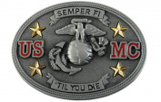 Us Marine Corps Semper Fi Till You Die Belt Buckle