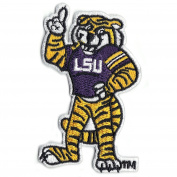 Official Louisiana State 'LSU' Tiger Mascot NCCA College Logo Iron On Patch
