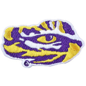 Louisiana State Tigers LSU Tiger Eye Logo Iron On Embroidered Patch Medium