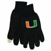 NCAA Miami Hurricanes Technology Touch Gloves