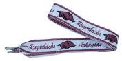 NCAA Arkansas Razorbacks Shoelaces, Cranberry/White, One Size