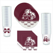 Mississippi State Bulldogs Party Pack - 81 pieces