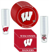 Wisconsin Badgers Party Pack - 81 pieces
