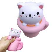 Tianxun Squeeze Squishy Cup Cat Design Slow Rising Simulation Stress Relief Toys