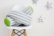 Force Kids Bed Roll White Polka Dots Spots Green And Thick Grey Stripes Roll and Roll Length 140 cm Length 200 cm