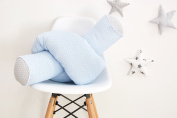 Kraft Roll and Roll Length 140 cm Length 200 cm Kids Bed Roll Small Leaves Blue on White