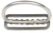 Dive Rite 5.1cm D-Ring Stainless Steel on Belt Slide