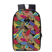 WanYang Backpacks Colourful Printed Casual Daypack Travel Rucksack School Bags 36cm Laptop