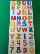 36 LARGE Alphabet Wall Sticker,Kids Numbers Wall Stickers,Nursery Stickers,Alphabet Stickers,Wall Decals wall tattoo, wall vinyl.