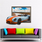 XMJR D (sports car) wall sticker wallpaper bedroom living room TV sofa setting HD self-adhesive paper without leaving any glue specification 784*580mm