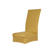 Foopp Polyester Four Seasons General Hotel House Stretch Chair Cover Slipcover Golden