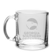 Georgia Southern Eagles 380ml Deep Etched Clear Glass Coffee Mug