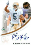 Rhema McKnight autographed Football Card (Notre Dame) 2007 Press Pass Rookie - College Cut Signatures