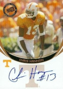 Chris Hannon autographed Football Card (Tennessee) 2006 Press Pass Rookie - College Cut Signatures